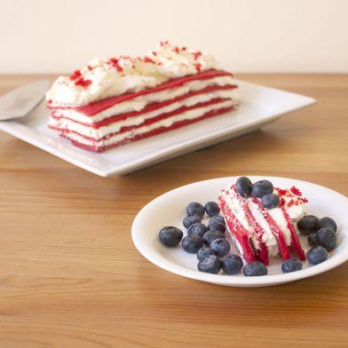 Red, White & Blue Icebox Cake