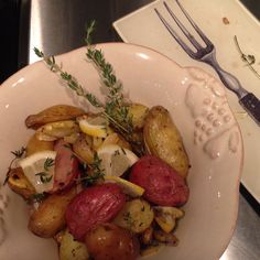 Lemony Roasted fingerling potatoes