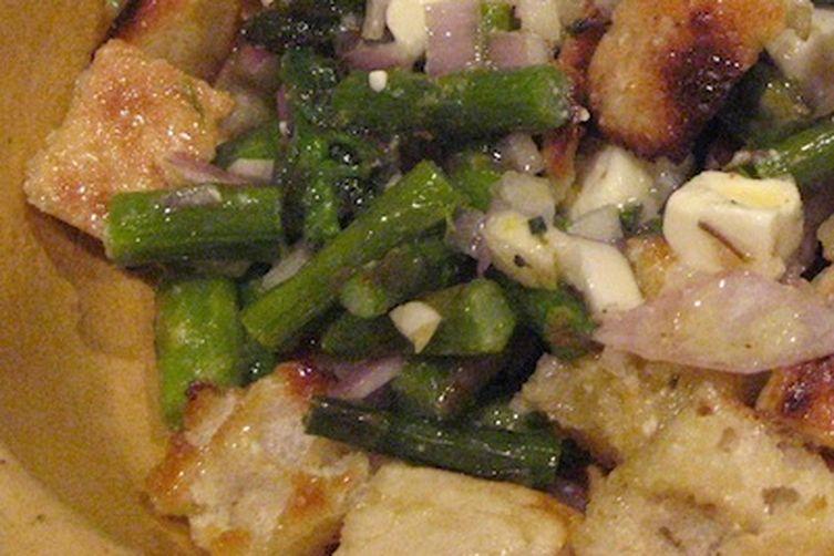 Swordfish & Asparagus Bread Salad