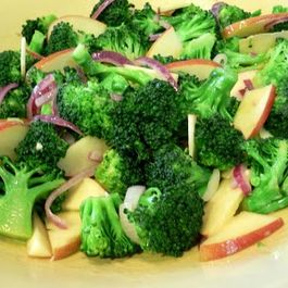 Broccolil, Apple, Walnut and Red Onion Salad