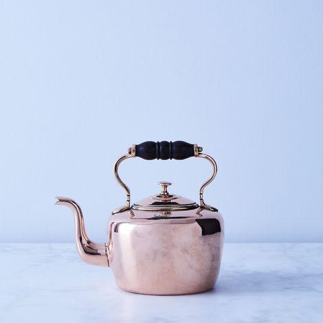 Vintage Copper Oval Benham & Sons Tea Kettle, Mid 19th Century