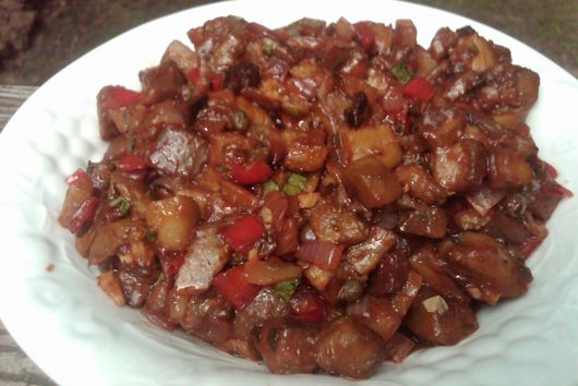 Sweet and Sour Eggplant Stir Fry