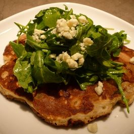 Pancakes with Carmelized Pears and Gorgonzola