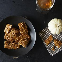 Pumpkin Ale & Ginger Almond Brittle