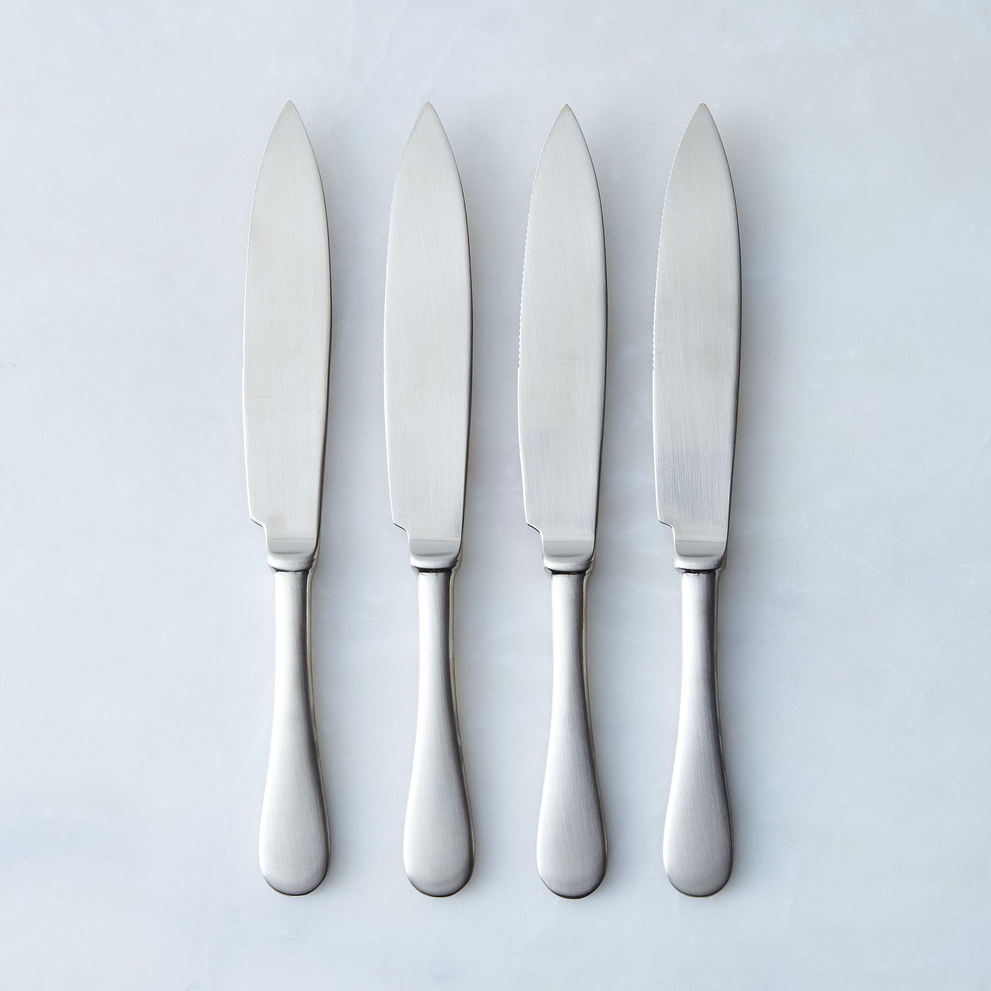 Italian Steak Knives (set Of 4) Champagne Brushed