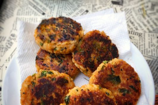 Sweet potato Rice Patties