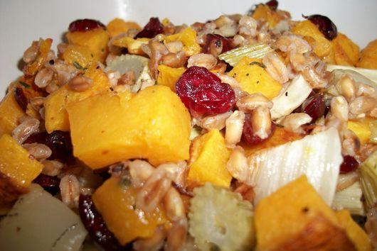 Roasted Butternut Squash, Fennel, and Farro Salad