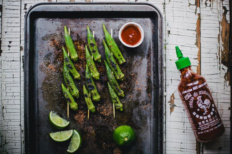 Grilled okra from Food52