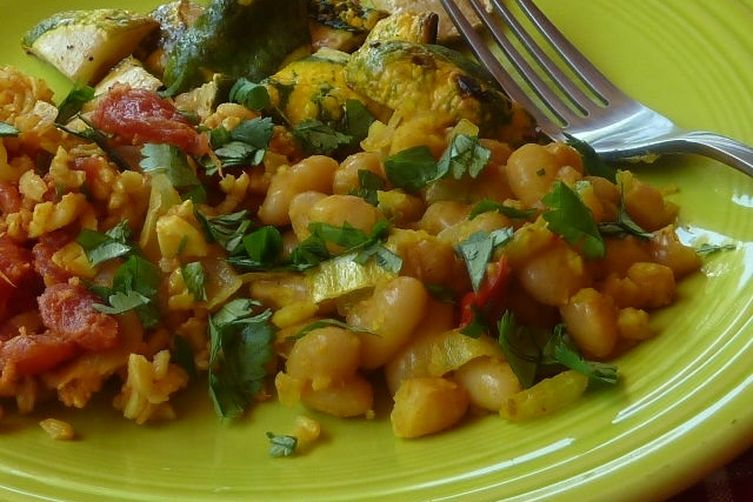 Curried Coconut Canary Beans