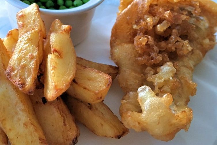 Classic English fish and chips
