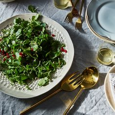 Watercress Salad with Shallot-Pomegranate Vinaigrette