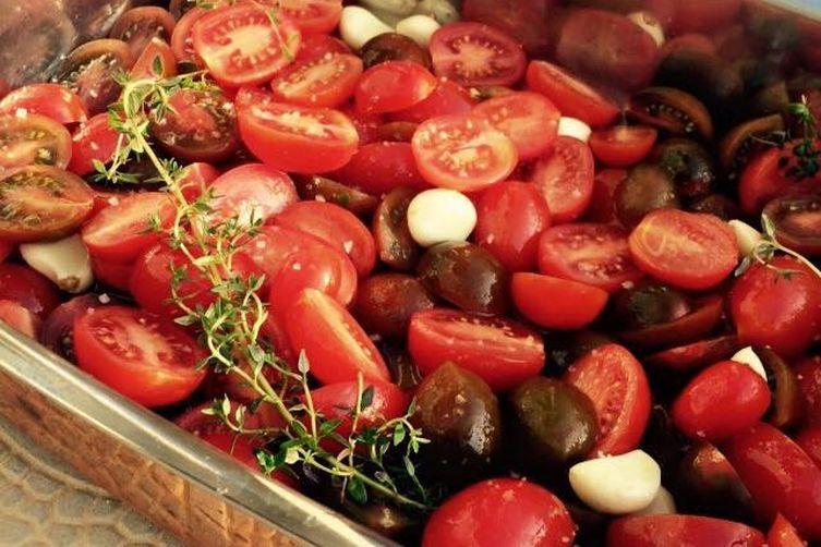 tomato saffron confit