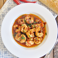 Spicy Spanish Garlic Shrimp - Gambas al pil pil