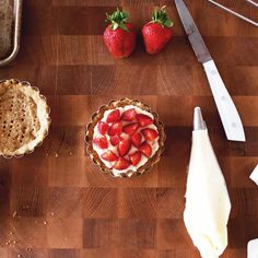 Strawberry Tart w/ Black Pepper and Mascarpone