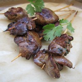 Thai Chicken Liver Skewers