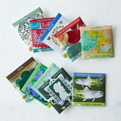Heirloom Seed Art Packets, Gourmet Greens (Set of 5)