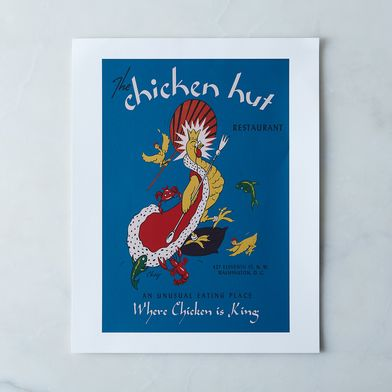 Vintage Menu Print: Chicken Hut, Washington DC