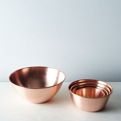 Copper Nesting Prep Bowls (Set of 5)
