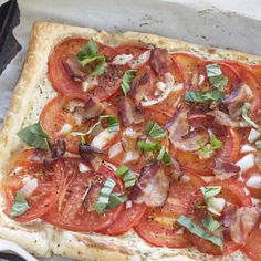 Tomato Bacon Tart