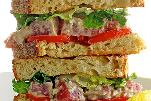 Seared Tuna and Smoked Trout Sandwich