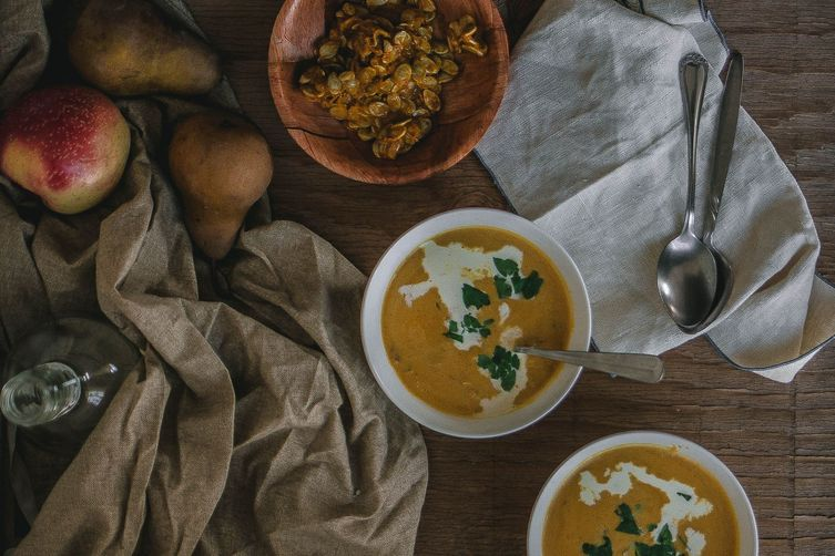 Roasted Kabocha Squash and Parmigiano Soup