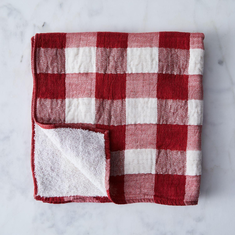 Travel Towel Japan: Buffalo Check Japanese Bath Towels On Food52