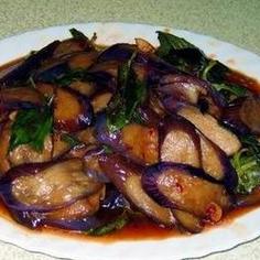 Stir-fry Eggplant and Basil