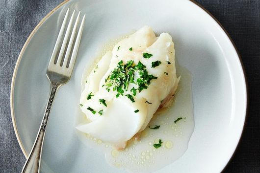 Baked Fish + Creamed Spinach