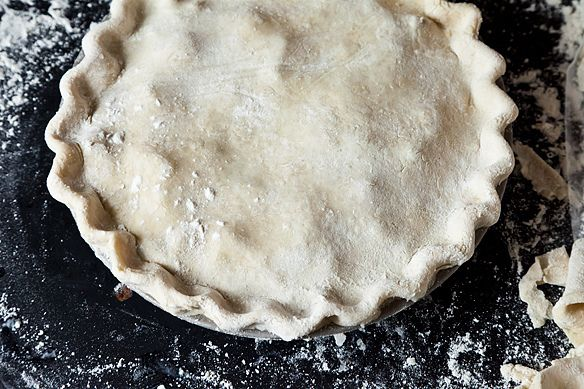 crimped pie crust