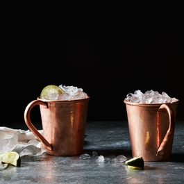 Hammered Copper Moscow Mule Mugs (Set of 2)