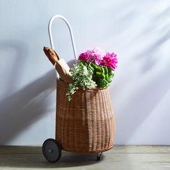 Rattan Market Cart