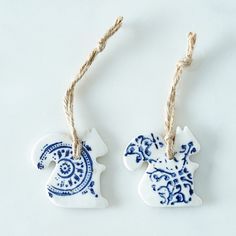 Ceramic Ornaments (Set of 2)
