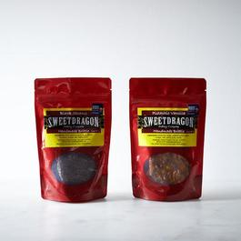 Pistachio Vanilla and Black Sesame Brittle