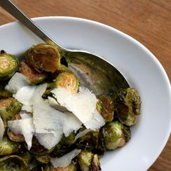 Balsamic Roasted Brussels Sprouts with Mustard Vinaigrette
