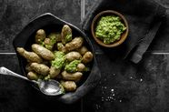 Roasted Potatoes with Green Sauce