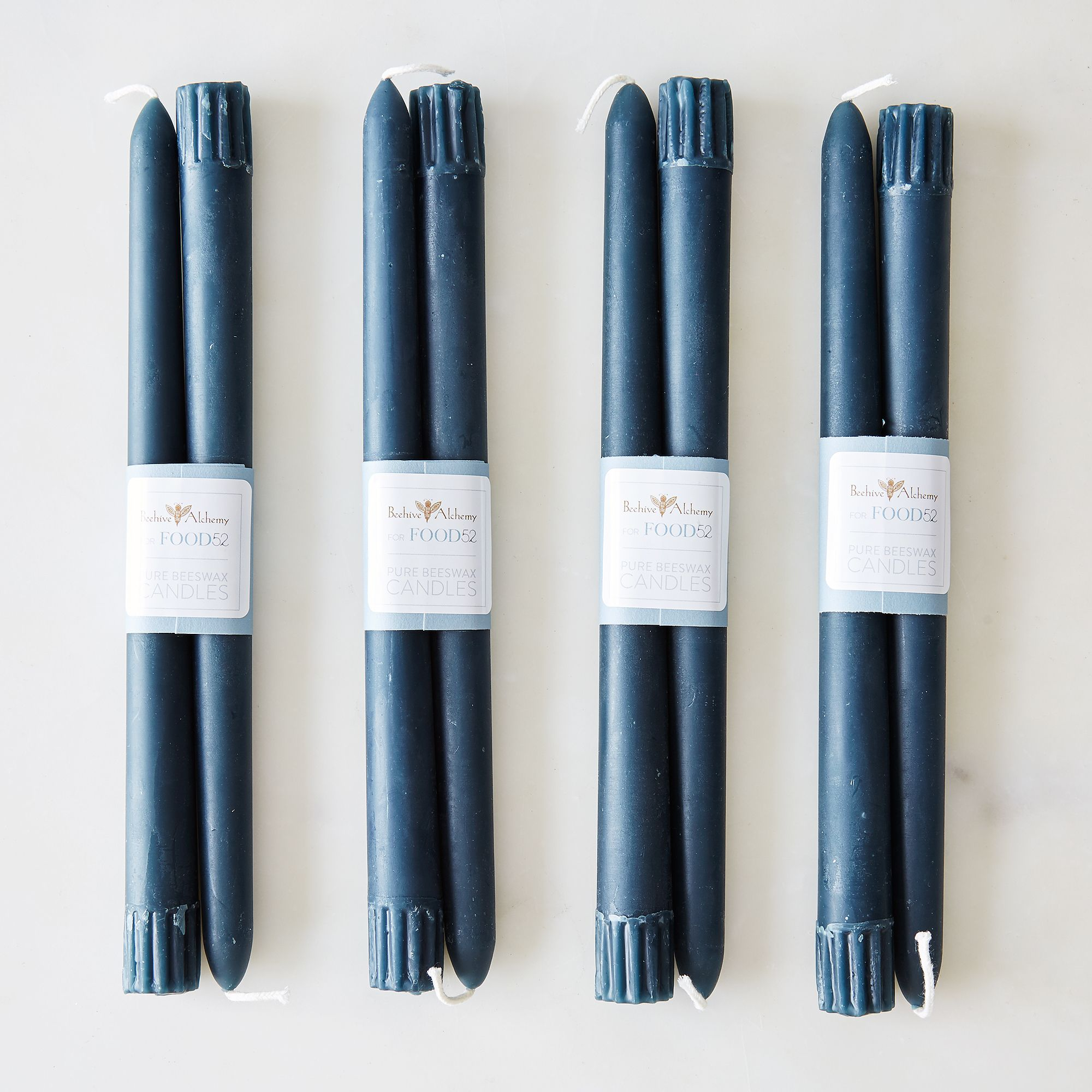 09820224 a0f8 11e5 a190 0ef7535729df  2015 0416 beehive alchemy 10 colored beeswax taper candles set of 8 deep ocean silo bobbi lin 1415