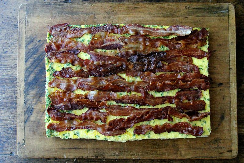 Even if not woven, bacon is still good.