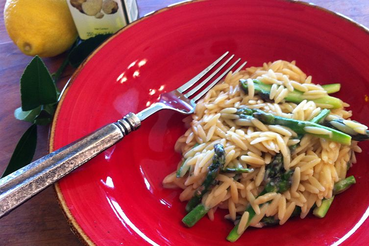 Truffled Orzo with Asparagus & Formaggio