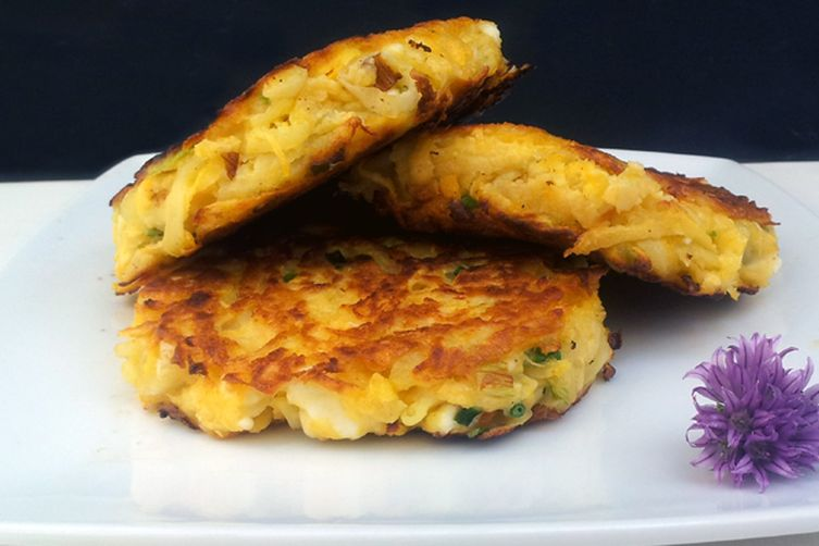 Rutabaga and Feta Fritters [vegetarian]