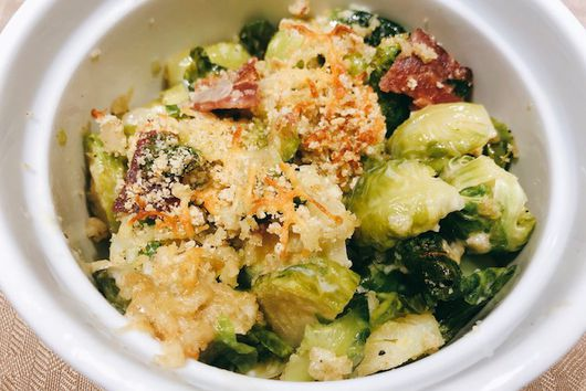 Creamy Brussel Sprouts & Bacon