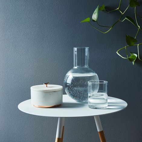Handblown Glass Bedside Carafe