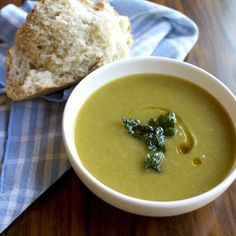 Celery Root and Scallion Soup with Fried Parsley