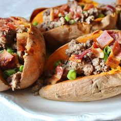 Loaded Paleo Sweet Potato Boats
