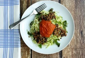 Zucchini Pasta with Lentils