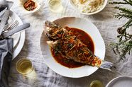 Taiwanese-Style Whole Fish With Chilies and Basil