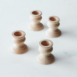 Wooden Candle Holders (Set of 2 or 4)