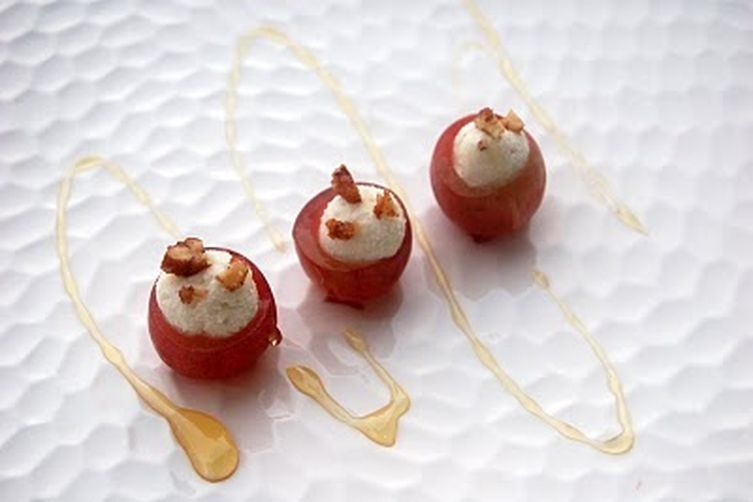 Goat Cheese Stuffed Grapes