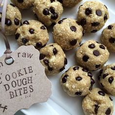 Raw Cookie Dough Bites