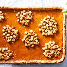 """Peach Butter Slab """"Hydrangea"""" Pie"""