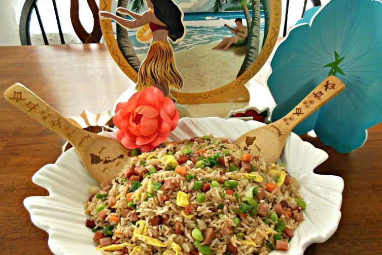 Spam & Edamame Fried Rice